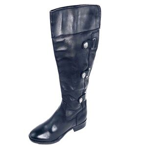 Arturo Chiang  Tall Zip Leather Riding  Boots